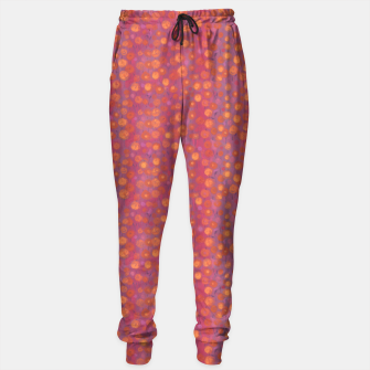Thumbnail image of Candy Field, abstract floral, pink &orange Sweatpants, Live Heroes