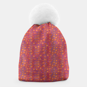 Thumbnail image of Candy Field, abstract floral, pink &orange Beanie, Live Heroes