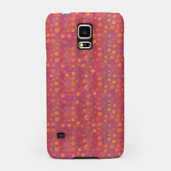 Thumbnail image of Candy Field, abstract floral, pink &orange Samsung Case, Live Heroes