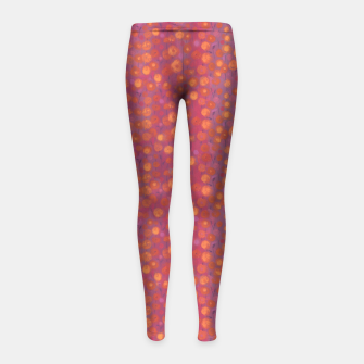 Thumbnail image of Candy Field, abstract floral, pink &orange Girl's Leggings, Live Heroes