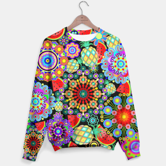 Thumbnail image of Mandalas and Exotic Fruits Pattern  Sweater, Live Heroes
