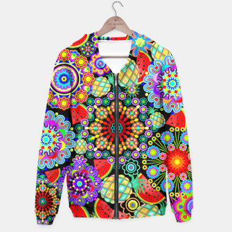 Thumbnail image of Mandalas and Exotic Fruits Pattern  Hoodie, Live Heroes