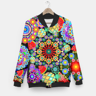 Thumbnail image of Mandalas and Exotic Fruits Pattern  Baseball Jacket, Live Heroes