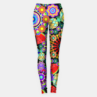 Thumbnail image of Mandalas and Exotic Fruits Pattern  Leggings, Live Heroes
