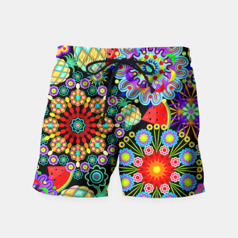 Thumbnail image of Mandalas and Exotic Fruits Pattern  Swim Shorts, Live Heroes