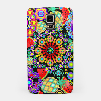 Thumbnail image of Mandalas and Exotic Fruits Pattern  Samsung Case, Live Heroes
