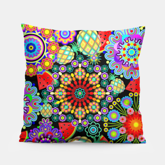 Thumbnail image of Mandalas and Exotic Fruits Pattern  Pillow, Live Heroes
