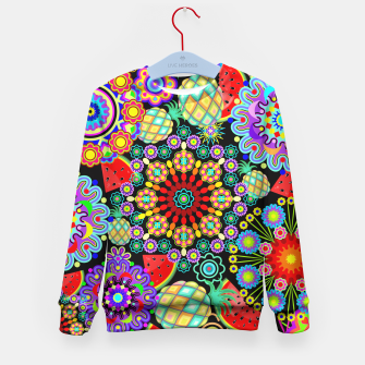 Thumbnail image of Mandalas and Exotic Fruits Pattern  Kid's Sweater, Live Heroes