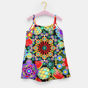 Thumbnail image of Mandalas and Exotic Fruits Pattern  Girl's Dress, Live Heroes