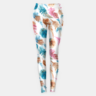 Thumbnail image of Colorful Boho Feathers Leggings, Live Heroes