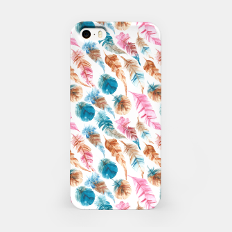 Miniatur Colorful Boho Feathers iPhone-Hülle, Live Heroes