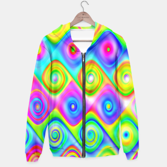 Thumbnail image of Colorful Algorithmic Pattern P09 - Amazing Spirals Capuche, Live Heroes