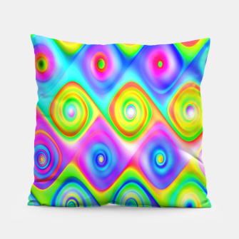 Thumbnail image of Colorful Algorithmic Pattern P09 - Amazing Spirals Coussin, Live Heroes