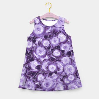 Miniatur Purple Flush Girl's Summer Dress, Live Heroes