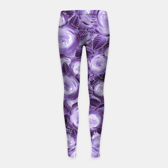 Miniatur Purple Flush Girl's Leggings, Live Heroes