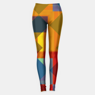 Thumbnail image of shadows and geometry Leggings, Live Heroes