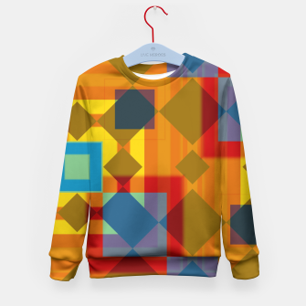 Thumbnail image of shadows and geometry Kid's Sweater, Live Heroes