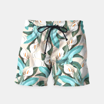 Thumbnail image of Floral Porn Swim Shorts, Live Heroes