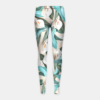 Thumbnail image of Floral Porn Girl's Leggings, Live Heroes