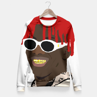 Miniatur lil yachty lil boat Fitted Waist Sweater, Live Heroes