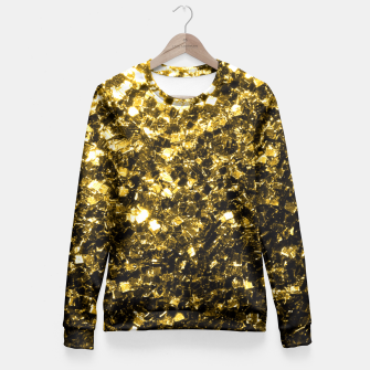 Thumbnail image of Beautiful Yellow Gold glitter sparkles  Fitted Waist Sweater, Live Heroes