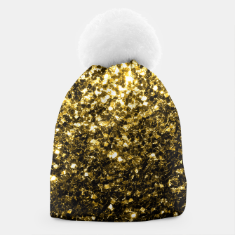 Thumbnail image of Beautiful Yellow Gold glitter sparkles  Beanie, Live Heroes