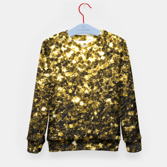 Thumbnail image of Beautiful Yellow Gold glitter sparkles  Kid's Sweater, Live Heroes
