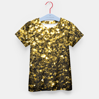Thumbnail image of Beautiful Yellow Gold glitter sparkles  Kid's T-shirt, Live Heroes
