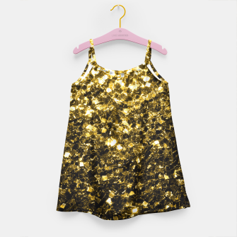 Thumbnail image of Beautiful Yellow Gold glitter sparkles  Girl's Dress, Live Heroes