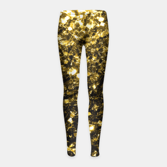 Thumbnail image of Beautiful Yellow Gold glitter sparkles  Girl's Leggings, Live Heroes