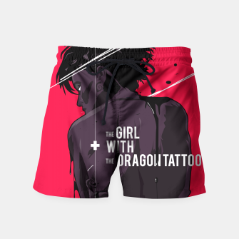 Thumbnail image of The Girl with Dragon Tatoo Swim Shorts, Live Heroes
