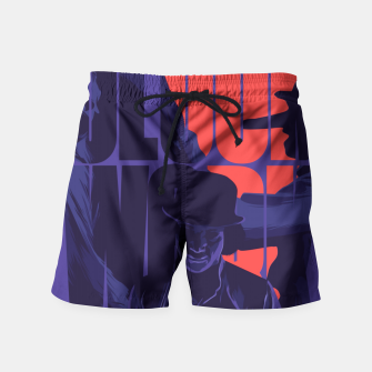 Thumbnail image of Clockwork orange Swim Shorts, Live Heroes