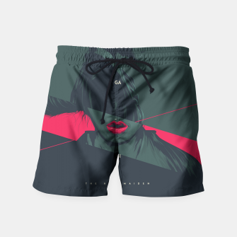 Thumbnail image of The Handmaiden Swim Shorts, Live Heroes