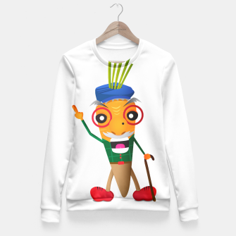 Thumbnail image of Grumpy carrot Fitted Waist Sweater, Live Heroes