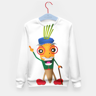 Thumbnail image of Grumpy carrot Kid's Sweater, Live Heroes