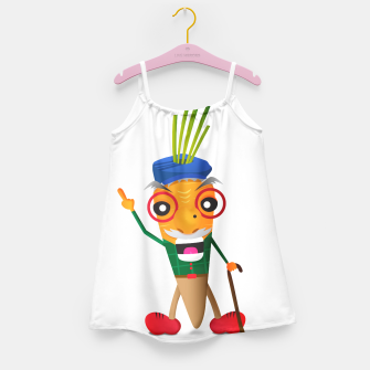 Thumbnail image of Grumpy carrot Girl's Dress, Live Heroes