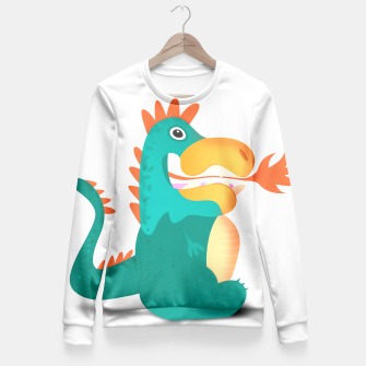 Thumbnail image of Duckosaur Fitted Waist Sweater, Live Heroes