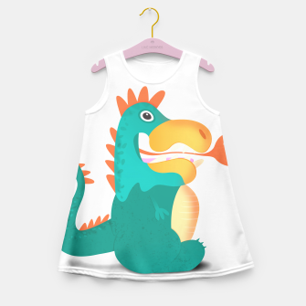 Thumbnail image of Duckosaur Girl's Summer Dress, Live Heroes