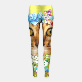Thumbnail image of Peek-A-Boo Girl's Leggings, Live Heroes