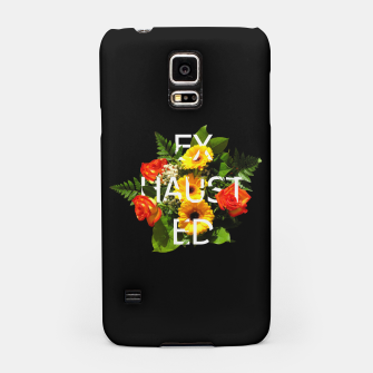 Thumbnail image of εxhαuš†εd FT Black Samsung Case, Live Heroes