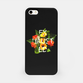 Thumbnail image of εxhαuš†εd FT Black iPhone Case, Live Heroes