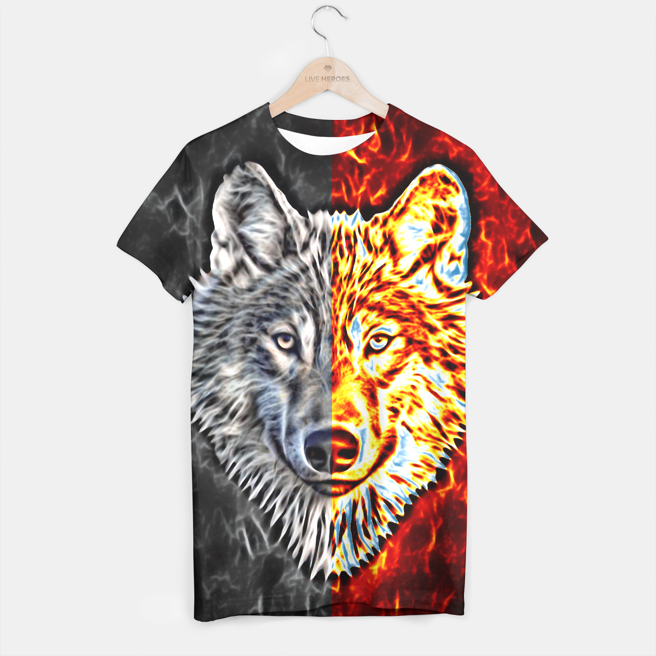 Foto A Graceful WOLF Looks Into Your Eyes two-colored - Live Heroes