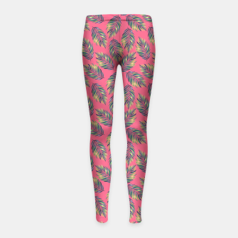 Miniatur Tropical leaves Girl's Leggings, Live Heroes
