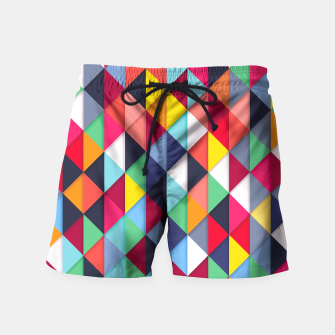 Thumbnail image of Colorful pattern and fashion Swim Shorts, Live Heroes