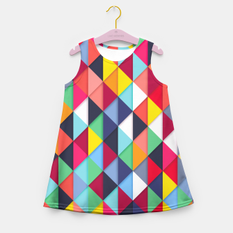 Thumbnail image of Colorful pattern and fashion Girl's Summer Dress, Live Heroes