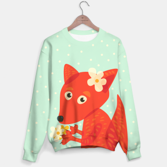Thumbnail image of Cute Fox And Flowers Sweater, Live Heroes