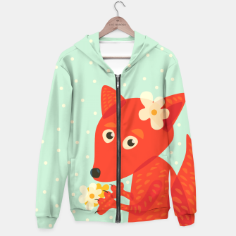Thumbnail image of Cute Fox And Flowers Hoodie, Live Heroes