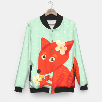 Thumbnail image of Cute Fox And Flowers Baseball Jacket, Live Heroes