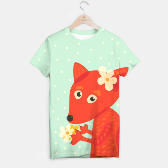 Thumbnail image of Cute Fox And Flowers T-shirt, Live Heroes