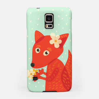 Thumbnail image of Cute Fox And Flowers Samsung Case, Live Heroes